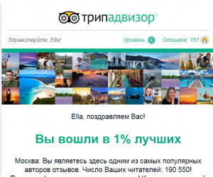 TOP TripAdvisor 190 550 readers