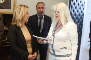 Madam Salma ELLOUMI REKIK ,Minister of Tourism and Handicrafts of T unisia ,TAWMA travel and Ella Ovchar