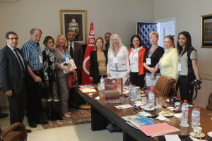 meeting with madam Salma ELLOUMI REKIK , Minister of Tourism and Handicrafts of T unisia
