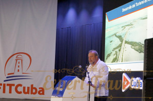 Conference by Manuel Marrero Cruz, Minister of Tourism of Cuba