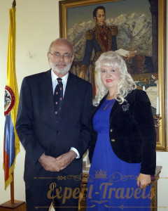 with Mr.Alfonso lopez Caballero, Ambassador of Colombia to Russia